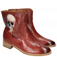 Bottines Jodie 8 Milano Red Screen Shot Skull