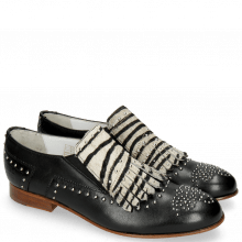 Mocassins Sally 95 Glove Nappa Black Hairon Young Zebra