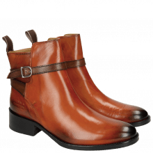 Bottines Elaine 8 Winter Orange Strap Dark Brown