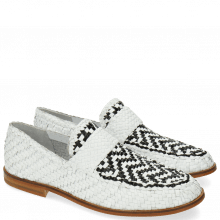 Mocassins Pit 10 Woven White Black