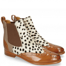 Bottines Selina 29 Tan Hairon Wildcat Canvas Taupe