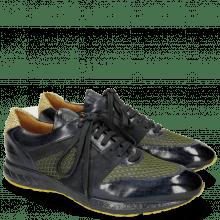 Sneakers Blair 9 Navy Net Underlay Black Bosco Suede Pattini Indaco