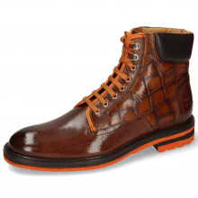 Bottines Trevor 35 Mogano Turtle Wood Fluo Orange