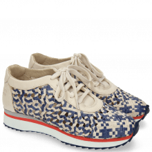 Sneakers Nadine 5 Woven Off White Moroccan Blue