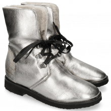 Bottines Greta 1 Nappa Steel Venice Crock Satelite