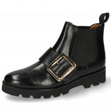 Bottines Selina 45 Black Buckle Luna Gold