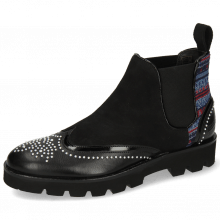 Bottines Sally 19 Black Patent Sheep Suede Quilesa