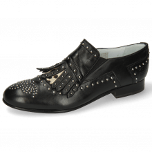 Mocassins Sally 95 Nappa Black Hairon Wildcat