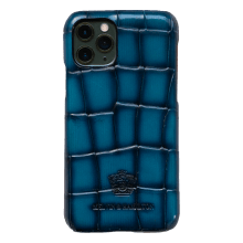Coque iPhone Eleven Pro Turtle Mid Blue Edge Shade Navy