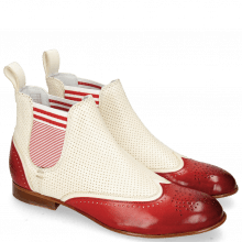Bottines Sally 19 Vegas Ruby White Perfo