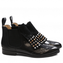 Bottines Jessy 23 Crust Crust Black Black Rivets Mixed Elastic Black HRS