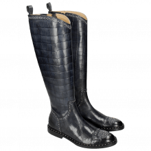 Bottes Sally 116 Turtle Navy Rivets Nickle Welt Black