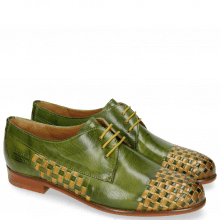 Derbies Selina 14 Ultra Green Interlaced Sol