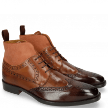 Bottines Jeff 34 Mid Brown Wood Tan Suede Pattini Rust
