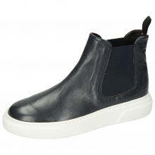 Bottines Hailey 2 French Nappa Navy Elastic Navy