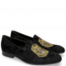 Mocassins Prince 1 Velluto Black Lion