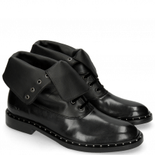 Bottines Sally 81 Black Nappa Laces Velvet