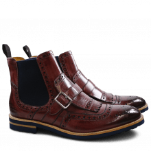 Bottines Eddy 20 Burgundy Elastic Navy