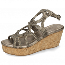Sandales Hanna 58 Woven Pewter Cork