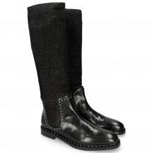 Bottes Susan 52 Black Stafy Glitter Black Rivets