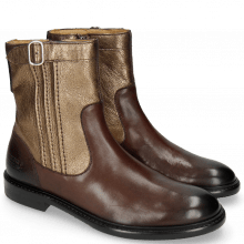 Bottines Sally 85 Mogano Nappa Aztek Bronze Rivets