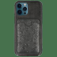 Coque iPhone Twelve Pro Vegas Black Wallet Ostrich Black
