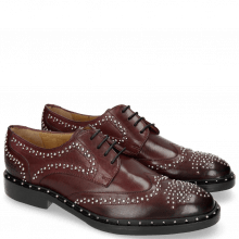 Derbies Sally 53 Burgundy Rivets