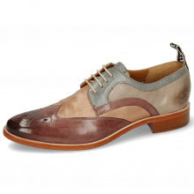 Derbies Betty 16 Pavia Light Purple Cappuccino Satellite Oxygen