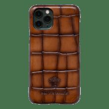 Coque iPhone Eleven Pro  Turtle Wood Shade Dark Brown