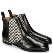 Bottines Susan 34 Petrol Hairon Tweed