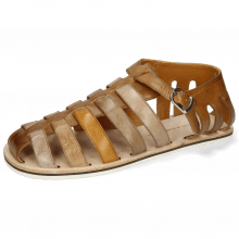 Sandales Sam 3 Imola Dark Chocolate Ash Tortora Camel Chestnut