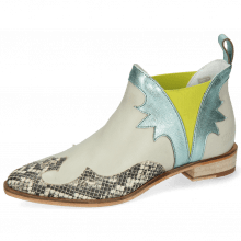 Bottines Marlin 44 Snake Off White Nappa Glove Tropical Sea Idra Turquoise