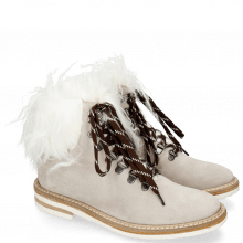 Bottines Amelie 79 Suede Pattini Jute Collar Fur Mongolian