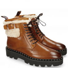 Bottines Susan 66 Wood Sherling Beige Sword Buckle