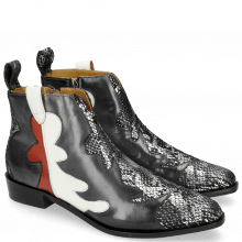 Bottines Marlin 7 Snake Silver Black London Fog