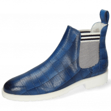 Bottines Susan 10 Vegas Turtle Perfo Mid Blue Elastic Oxford