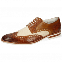 Derbies Barry 1 Vegas Crock Tan Canvas Off White