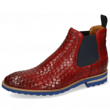 Bottines Brad 6 Woven Venice Ruby Elastic Navy