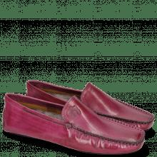 Mocassins Home Donna Dark Pink Sock Fur