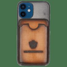 Coque iPhone Twelve Mini Vegas Oxygen Wallet Tan