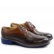 Derbies Amelie 3 Crust Tan Blue Finish WL Blue