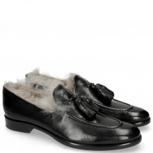 Mocassins Clint 6 Black Tassel