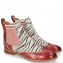 Bottines Amelie 43 Ruby Hairon Young Zebra Binding Grafi