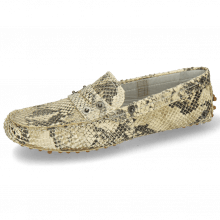 Mocassins Caroline 1 Snake Print Platin Natural Thread