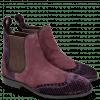 Bottines Giulia 2 Velluto Dark Purple Suede Chilena Deep Pink
