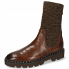 Bottines Susan 69 Turtle Dark Brown Textile Brina Mokka Lining