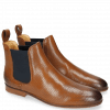 Bottines Susan 10 Salerno Perfo Dark Tan Elastic Navy
