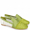 Mocassins Kate 24 Woven Satin Greenery