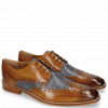 Derbies Martin 15  Berlin Tan Perfo Navy Lining Textile