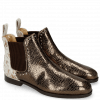 Bottines Susan 37 Cromia Pewter Hairon Jersey Metallic Brown